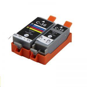Max PGI-35 CLI-36 Compatible Cartridge Set With Ink for Canon PIXMA IP100 IP110 Printer